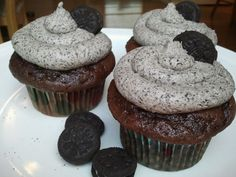 Food of Love: Chocolate Cupcakes with Oreo Buttercream Frosting i think this is the recipe i used about a year ago...hubby lost the bookmark.