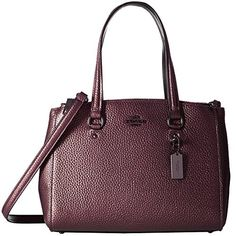Women's Shoulder Bags - COACH 36877 Metallic Cherry Pebbled Leather Stanton 26 Carryall >>> Click on the image for additional details.
