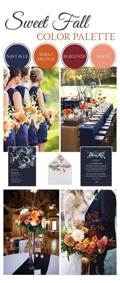 September Wedding Colors, October Flowers, Best Wedding Colors, Fall Wedding Flowers, Orange Wedding, Burgundy Wedding, Wedding Color Schemes, Wedding Themes, Wedding Gowns