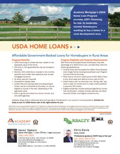 Great Loan program that doesn't get used enough! USDA Home Loan! Get A Loan, Real Estate Tips, Denver Real Estate, Real Estate Postcards, First Time Home Buyers, First Home, Home Building Tips, Building A House, Marketing Flyers