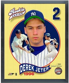 """Derek Jeter New York Yankees Rookie Series - 11 x 14 Framed Photo """"LE"""" 500"""