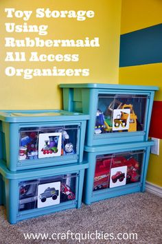 Toy storage is simple, accessible, and attractive with the new Rubbermaid All Access Organizers from Home Depot!