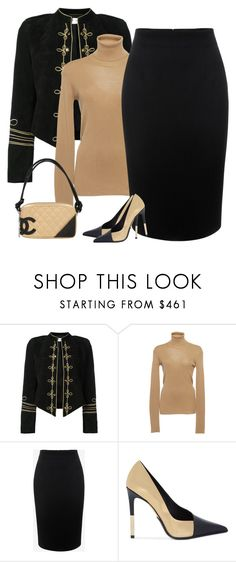 """""""pencil"""" by bodangela ❤ liked on Polyvore featuring Yves Saint Laurent, Alexander McQueen, Balmain and Chanel"""