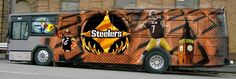 All aboard the Steelers bus! (via Steelers Fans Outside Pittsburgh)