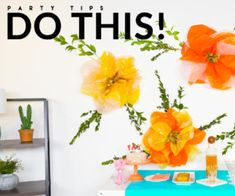 Decorate Your Space with This DIY Paper Flower Party Backdrop Favorite Things Party, Party Expert, Online Invitations, Backdrops For Parties, Diy Paper, Paper Flowers, Easy Diy, Space, Decor