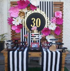 Victory Celebration - Manifestation- You Did It Party Chanel Birthday Party, 30th Party, 30th Birthday Parties, 70th Birthday, Birthday Party Decorations, Decoration Evenementielle, Fiesta Party, Kate Spade, Ideas Originales