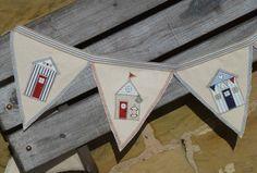 Handmade Shabby Chic East of India Ribbon Beach Hut Nautical Seaside Bunting | eBay Fabric Crafts, Sewing Crafts, Sewing Projects, Craft Projects, Bunting Banner, Bunting Ideas, Flag Banners, Buntings, Coastal Quilts
