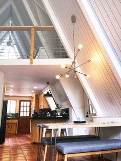 A California A-Frame Cabin Was Recently Remodeled | Apartment Therapy. I love the drama of this architecture!