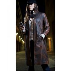 Watch Dogs : Aiden Pearce Distressed Leather Coat