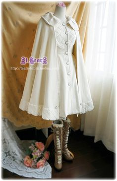 White coat and cape that almost resembles a knight, so my style! #taobao #st.tears #coat #cape $95.00