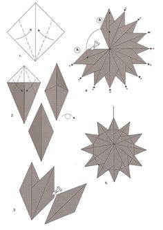 Betsy's Origami: Zonnetjes vouwen van theezakjes en origamipapier Paper Folding Crafts, Origami Paper Art, Paper Crafting, Christmas Origami, Christmas Cards To Make, Christmas Crafts, Diy Snowflake Decorations, Paper Architecture, Paper Stars