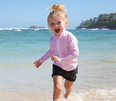 Cutie Cruiser - Pink Polka Dot | SwimZip Rash Guard Swimwear #SwimZip