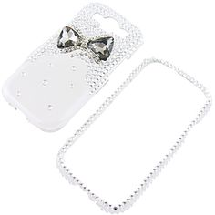 #Rhinestones Protector Case for #Samsung Galaxy S III, 3D #Bow Tie (Smoke/Clear) $19.99 From #DayDeal