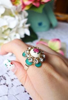 #ChicWish Vintage Style rose Garden Ring - Accessory - Retro, Indie and Unique Fashion