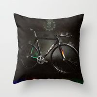 Throw Pillows featuring Fixed Gear Dreams - MASH 2015 by k_design