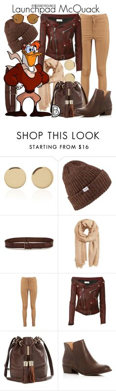 """Launchpad McQuack"" by leslieakay ❤ liked on Polyvore featuring Magdalena Frackowiak, Coal, Paige Denim, MANGO, Boohoo, See by Chloé, Splendid, Ray-Ban, disney and disneybound"