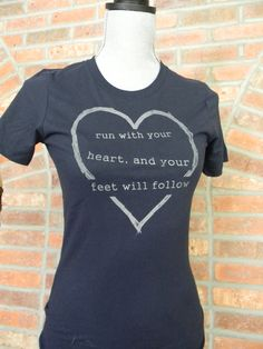 inspirational athletic womens silkscreened t shirt by denisehead, $18.00