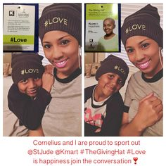 Cornelius and I are proud to sport out @StJude @Kmart #TheGivingHat #Love is happiness join the conversation❣️