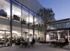 Tsutaya Bookstore , Daikanyama Mall Facade, Retail Facade, Shopping Mall Interior, Shopping Street, Retail Architecture, Art And Architecture, External Cladding, Commercial Complex, Facade Design