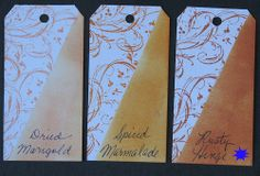 Tim Holtz Distress Paint spiced marmalade | Ink Stains: Tim Holtz Distress Inks - New vs. Old