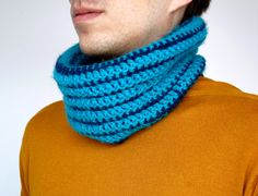 Mens scarf Infinity Crocheted Winter scarf Mens by MellyBoutique
