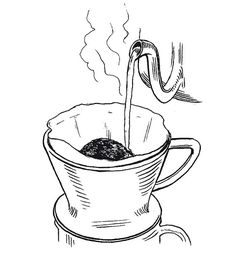 Pour Over Coffee Drawing