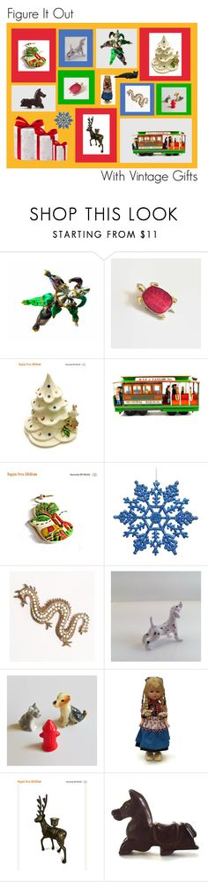 """""""Figure It Out With Vintage Gifts"""" by anna-ragland ❤ liked on Polyvore featuring vintage"""