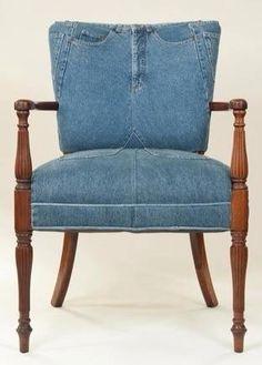 Blue jean upholstery