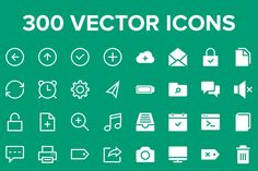 Thin Strokes vector icon pack @photoshoplady
