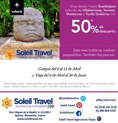 Los 50% en tus viajes siempre se ven bien. Aprovecha esta promoción con Volaris  Vigencia Lunes 13 de Abril 2015