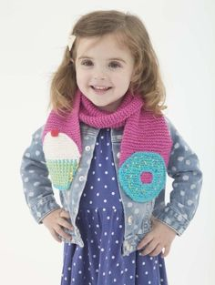 Knit this delicious, sweets-inspired scarf for your little sweetheart.