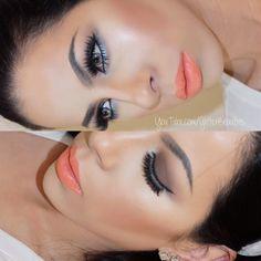 Used @zoevacosmetics rose golden palette @ABHcosmetics dip brow in granite @maccosmetics lipstick in reel sexy @lauramercier glow n blush @houseoflashes iconic @tarte cosmetics liner @nars foundation #makeup #summer #maquillaje