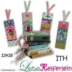 ★ LeseHelferlein ★ Lesezeichen 13x18 ★ IN THE HOOP