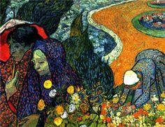 Ladies of Arles (Memories of the Garden at Etten), Vincent van Gogh. 1888.