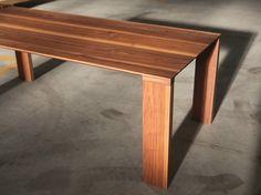 RECTANGULAR WALNUT TABLE RADII COLLECTION BY BENSEN