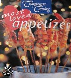 Company's Coming: Most Loved Appetizers, try the Mushroom turnovers these are one of my fav's and a hit at every party. Caramel Apples, Martini, Magazines, Stuffed Mushrooms, Appetizers, Party, Desserts, Books, Fun