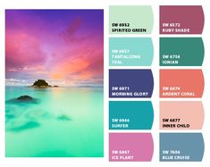 Instantly turn any picture into a palette with ColorSnap, created for you by Sherwin-Williams. Beach Color Palettes, Color Schemes Colour Palettes, Colour Pallette, Color Combos, Tropical Colors, Colour Board, Bedroom Colors, Color Theory, House Colors
