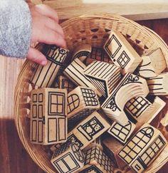 . Diy For Kids, Crafts For Kids, Wood Crafts, Diy And Crafts, Easy Crafts, Diy Bebe, Wooden Blocks, Wood Toys, Diy Toys