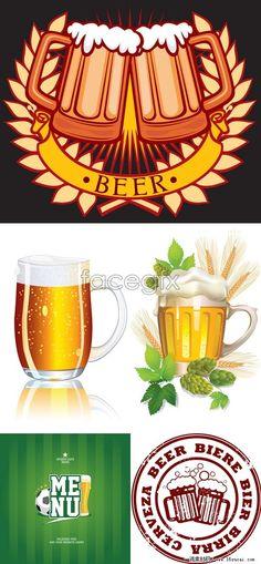 5 beer flag vector