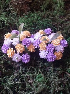 Fairy garden accessories. Set of 2 flower beds. by PuppyLoveMiniature on Etsy