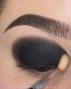 Smoke Eye Makeup, Shimmer Eye Makeup, Eyebrow Makeup Tips, Asian Eye Makeup, Makeup Looks Tutorial, Smokey Eye Makeup Tutorial, Eye Makeup Steps, Makeup Eye Looks, Eye Makeup Art