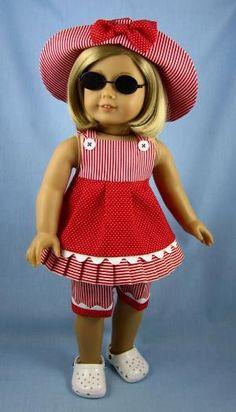 American Girl Doll Clothes   Three Piece by SewMyGoodnessShop by Mudgey--this is SOOOOOOOOOO CUTE!!!!!