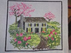 4 SEASONS spring is a small cross stitch kit Ideal by KIMSHOBBY