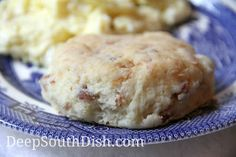 A tender biscuit stuffed with smoked honey ham and shredded cheese.