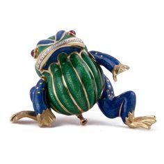 David Webb Frog Brooch