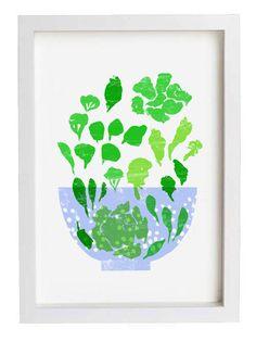 Lettuce Art Print / high quality fine art print by anek on Etsy