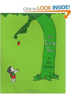 The Giving Tree: By Shel Silverstein. This book has such a lovely message for all readers young and old. I know that your child would love it! Classroom Tree, The Giving Tree, Shel Silverstein, Movie Info, Growing Up, Back To School, Crafts For Kids, Messages, Kids Reading