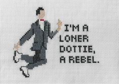Pee Wee Herman Dottie Quote - Cross stitch by 3DRD on Etsy