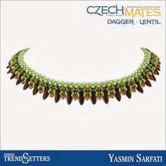 CzechMates Dagger/Lentil necklace by Starman TrendSetter Yasmin Sarfati