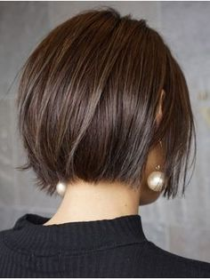 46 Perfect Short Hairstyles for Fine Hair in 2019 - Style My Hairs Haircuts For Fine Hair, Short Bob Hairstyles, Pretty Hairstyles, Short Straight Hair, Short Hair Cuts, Medium Hair Styles, Short Hair Styles, Chin Length Hair, Great Hair